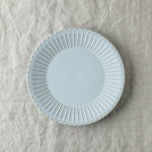 Scrunchy Lace Plate Blue MINO Ware