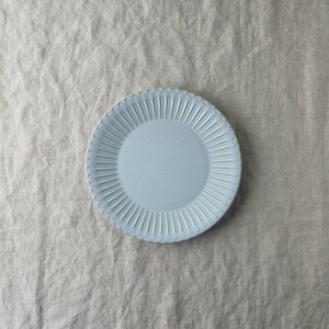 Scrunchy Lace Plate Blue Saucer MINO Ware
