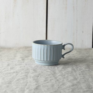 Scrunchy Lace Stack Coffee Cup Blue MINO Ware