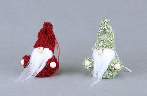 Knitted Santa Ornament Set