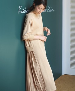 Behind Bag Pleats One-piece Dress