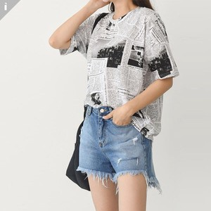 Pudding Frill Short Sleeve Top T-shirt