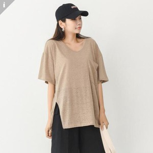 Linen Short Sleeve Top T-shirt