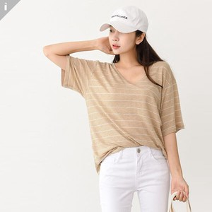 V-neck Short Sleeve Top T-shirt