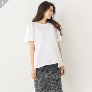 Plain Frill Short Sleeve Top T-shirt