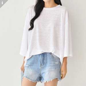 Linen Fit Long Sleeve Top T-shirt
