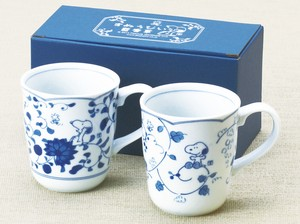 Snoopy Gift Collection Arabesque Pair Mag Cups Set