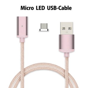 Micro USB Magnet Magnet Cable Data LED Light Attached