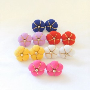 Japanese Clothing Plum Blossoms Earring