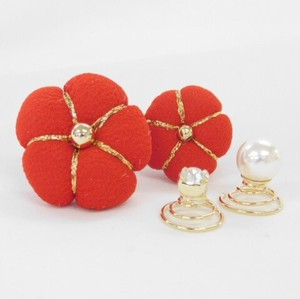Japanese Clothing Plum Blossoms Stone Pearl Charm