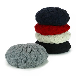 Big Knitted Beret Young Hats & Cap