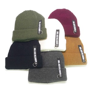 Tape Acrylic Knitted Watch Cap Young Hats & Cap