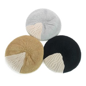 Cable Knitted Beret Young Hats & Cap