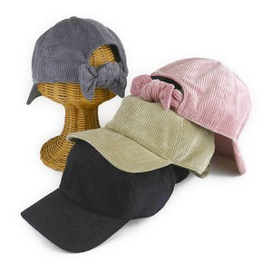 CORDUROY Bag Ribbon Cap Young Hats & Cap