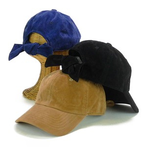 Fake Suede Bag Ribbon Cap Young Hats & Cap