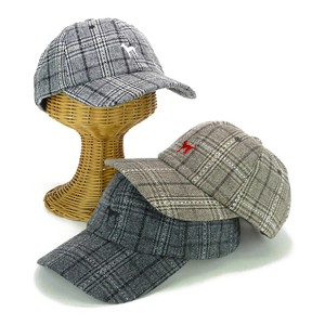 Embroidery Checkered Cap Young Hats & Cap