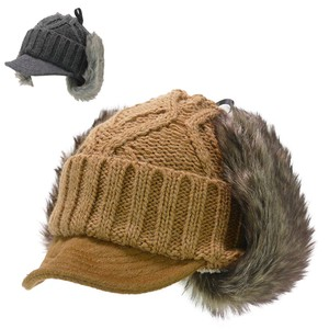 Fur Detachable Wool Visor Knitted Cap Young Hats & Cap