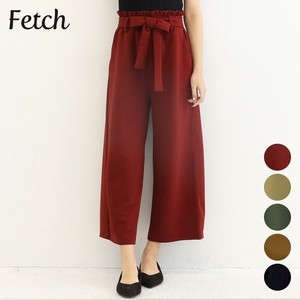 Ribbon Attached Waist Frill wide pants