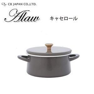 Pots with 2 Handle Gray Enamel IH Supported Roll Japan