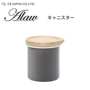 Canister Gray Enamel Storage Container Japan
