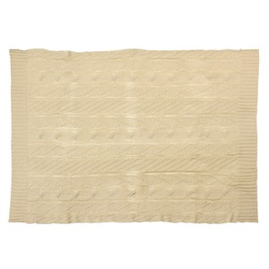 Knitted Blanket Beige