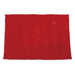 Knitted Blanket Red
