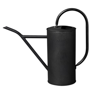Tinplate Long Watering Can Narrow Mouth Black