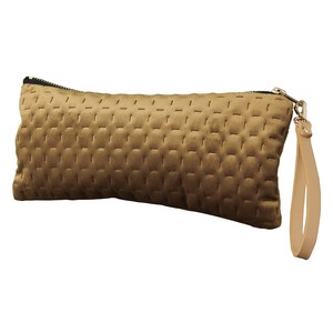 Velour Flat Pouch Strap Attached Camel