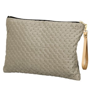 Flat Pouch Strap Attached Light Grey