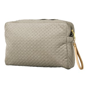 Square Pouch Strap Attached Light Grey