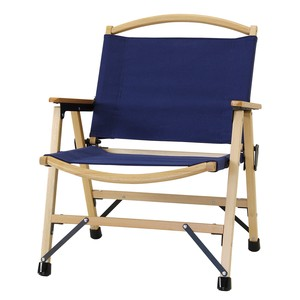 Vacation Canvas Folding Wood Chair Navy