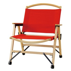 Vacation Canvas Folding Wood Chair Red