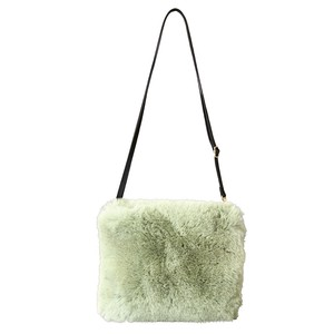 Eco Fur Shoulder Bag Leaf Green