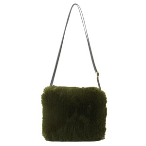 Eco Fur Shoulder Bag Khaki