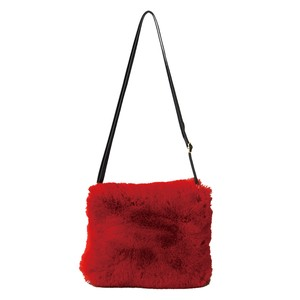 Eco Fur Shoulder Bag Red