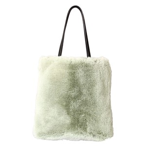 Eco Fur Tote Bag Leaf Green