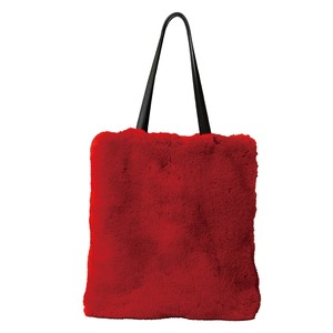 Eco Fur Tote Bag Red