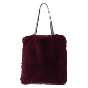 Eco Fur Tote Bag Bordeaux