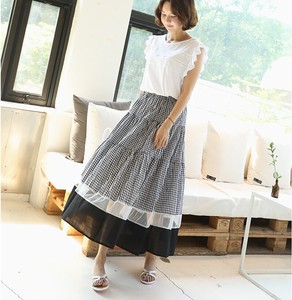 Color Scheme Switching Gingham Check Skirt