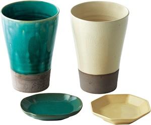 Red and Blue Mt Set of 2 each Fuji Japanese Ceramic Bowl Set With Chopsticks Maebata