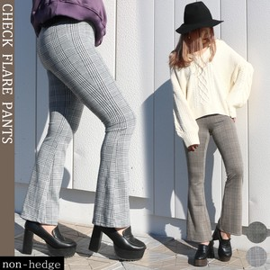 Checkered Flare Pants