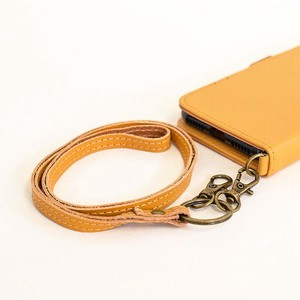 Cow Leather Strap Yellow Leather Strap Smartphone Strap Yellow