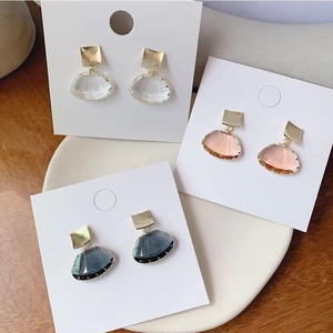 3 Colors Cut Glass Pierced Earring