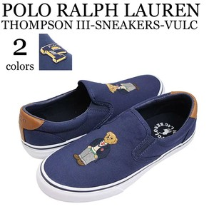《即納》POLO RALPH LAUREN《2019春夏新作》■スリッポン■THOMPSON III-SNEAKERS-VULC