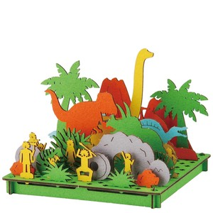 Line Dinosaur Cardboard Box Craft Kit