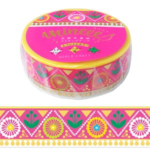 Nation Costume Washi Tape Blossom Pink Wrapping Decoration Washi Tape