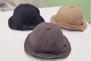Checkered Kids Hat Boys Sunscreen