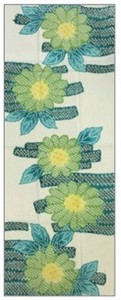 Tenugui (Japanese Hand Towels) Thusen Watercolor Hand Towel Sunflower