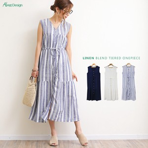 Linen Rayon One-piece Dress
