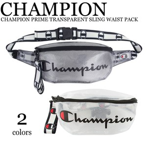 《即納》CHAMPION《2019春夏新作》 ■ウエストバッグ■TRANSPARENT SLING WAIST PACK
